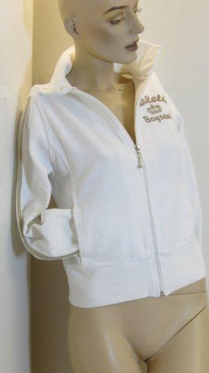 weiße Nicki Jacke, Gr. 32 bis 36
