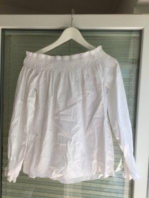Zara Basic Blouse met lange mouwen wit