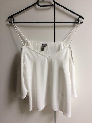 Weiße Offshoulder Bluse