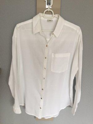 Weiße Oversize-Bluse