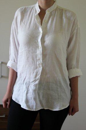 Weiße Oversize Leinenbluse von Eileen Stern