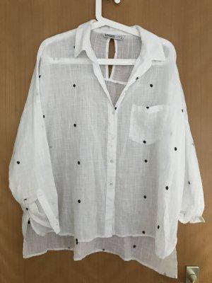 Weiße Oversized Bluse von Zara