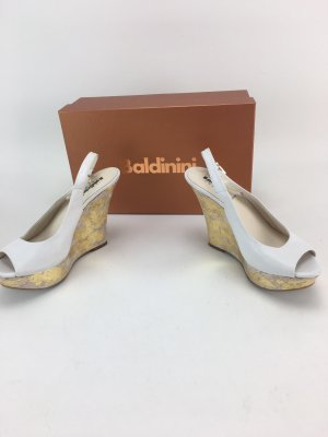 Baldinini Sandalo con plateau bianco