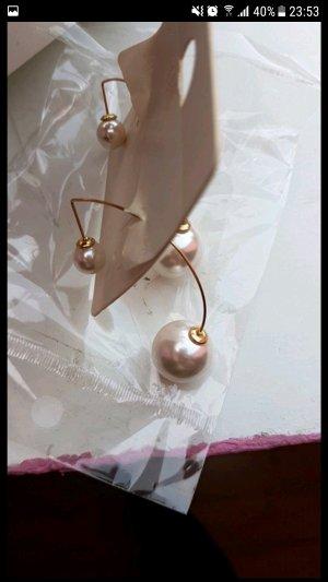 weiße Perlen Ohrringe