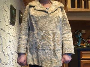 Weiße Persianer Jacke - Echtpelz