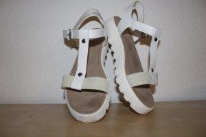 s.Oliver Plateauzool sandalen wit