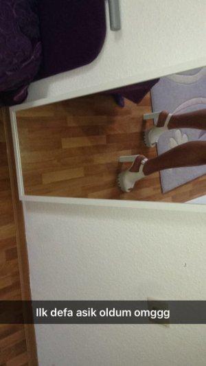 Platform High-Heeled Sandal white