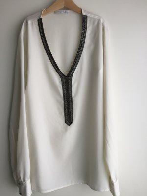 Weiße Promod Tunika Bluse