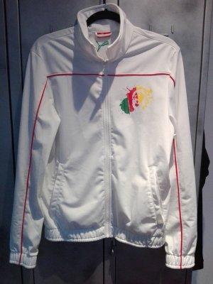 weiße Puma Sportjacke