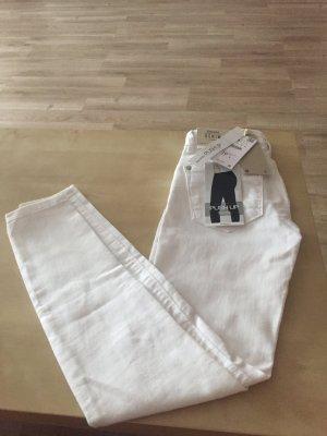 Weiße Push up Jeans von Bershka