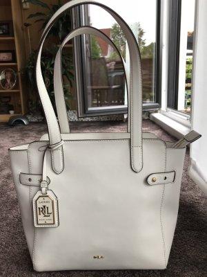 Weiße Ralph Lauren Tasche aus Kuhleder