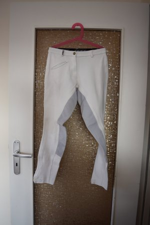 Pfiff Reitsport Riding Trousers white-silver-colored mixture fibre
