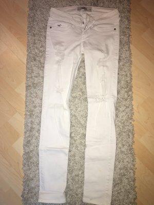 Weiße Ripped Jeans von Hollister