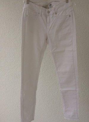 Mango Drainpipe Trousers white