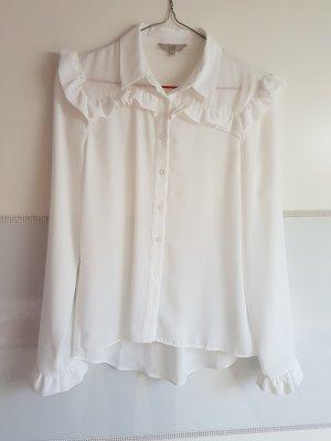 weiße rüschen Bluse