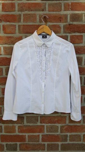 Weiße Rüschen- Bluse