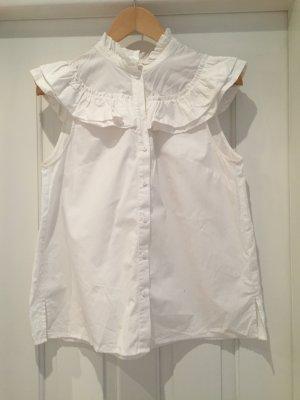 weiße Rüschenbluse von H&M