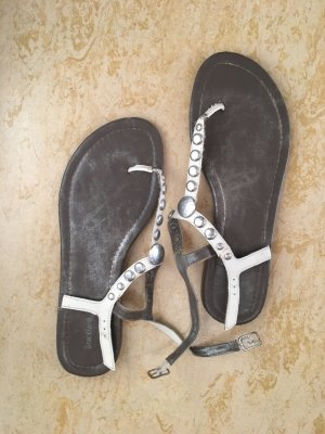 Deichmann Roman Sandals white-silver-colored