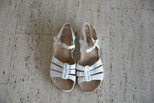 Weiße Sandalen, Größe 40, sehr guter Zustand