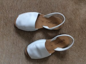 Espadrille Sandals white leather