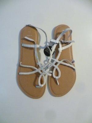 New Look Sandalias con talón descubierto blanco-marrón arena Cuero