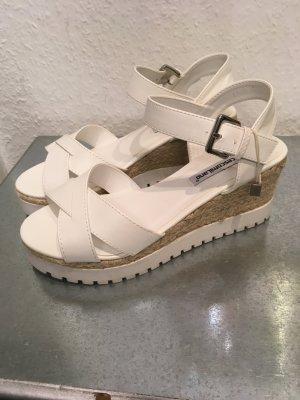 Sandalo alto con plateau bianco