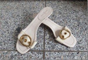 weiße Sandaletten/Pantoletten von Car Shoes by Prada Gr. 39,5