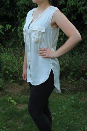 Weiße schimmernde Bluse