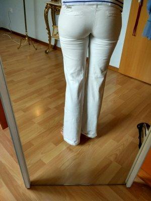 weiße Schlaghose ,dünner Stoff