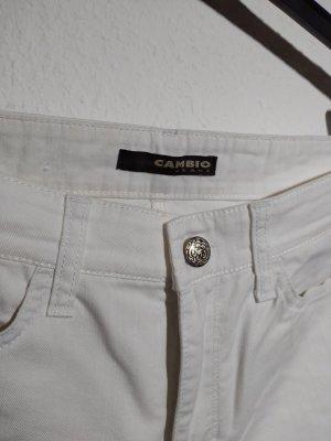 Cambio Pantalón de campana blanco Algodón