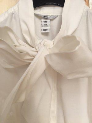 weiße Schleifenbluse von H&M