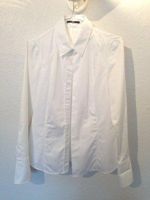weiße schlichte Bluse