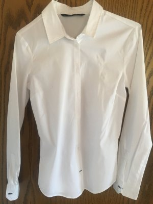 Zara Blusa de manga larga blanco