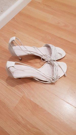 Escarpins à lacets blanc