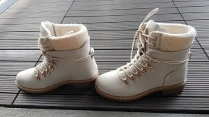 JustFab Lace-up Booties white
