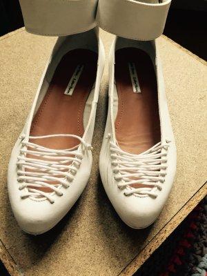 Weiße, schöne Frühjahr Sommer Schuhe