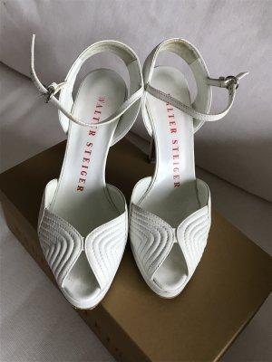 Weiße Schuhe mit Plateau von Walter Steiger. AUSVERKAUF!!! LETZTE REDUZIERUNG!!!