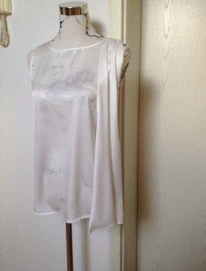 Mango Tie-neck Blouse white