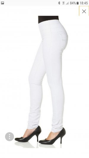 Weiße Shaping Jeans Jeggings Skinny Röhre