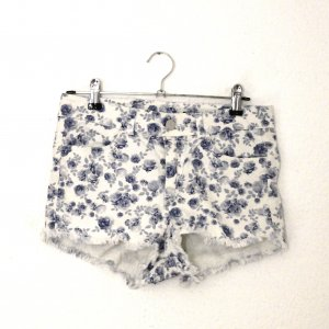 H&M Divided Denim Shorts white-steel blue cotton
