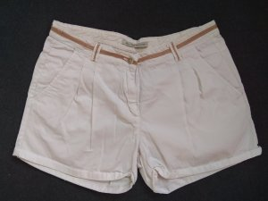 Zara Shorts bianco-marrone