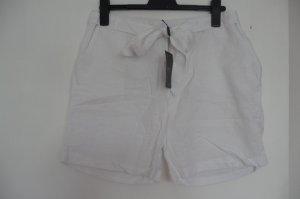 Weiße Shorts semi-transparent Leinen-Baumwolle Mix. NEU!