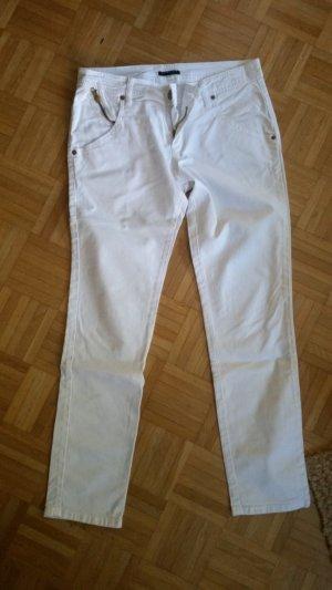 Sisley Pantalón tobillero blanco