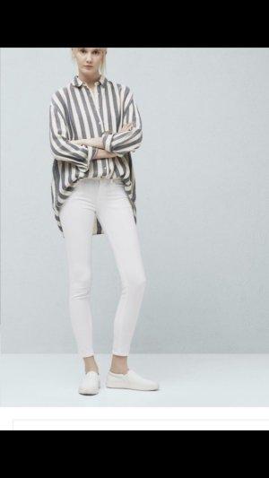 Weiße Skinny Jeans mit normaler Leibhöhe