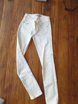 Weiße Skinny Jeans von Hollister W24/L29