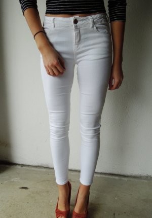 Weiße Skinny Jeans von Zara