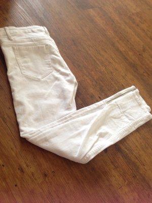 Weiße skinny Low Waist jeans