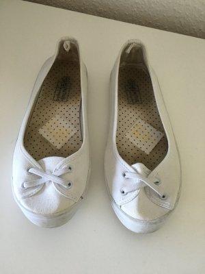 Weiße Sneaker Ballerinas