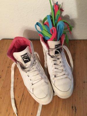 Weiße Sneaker halbhoch