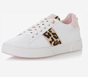 Weiße Sneaker Leoprint